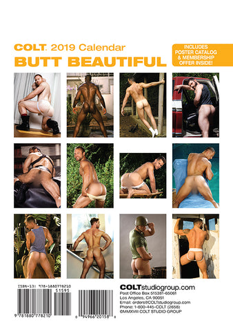 COLT Butt Beautiful 2019 Calendar