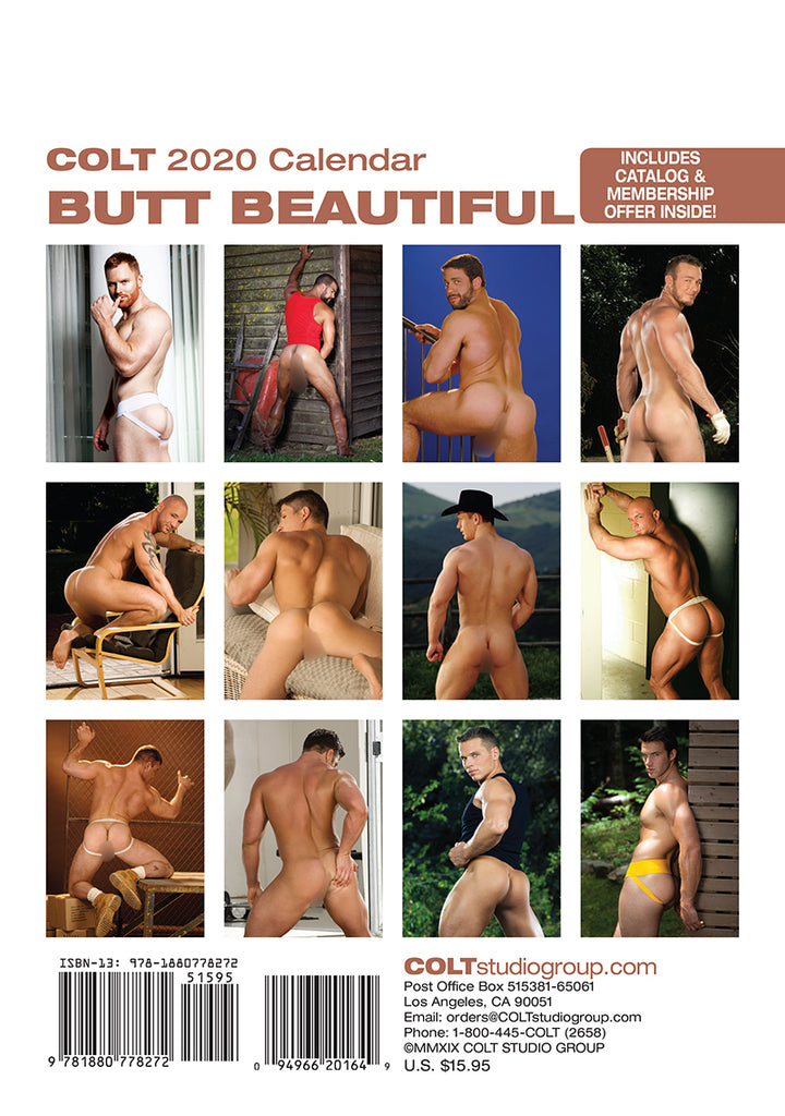 COLT Butt Beautiful 2020 Calendar