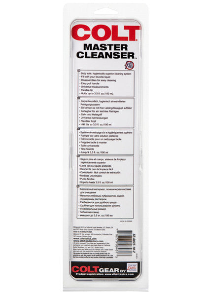 COLT Master Cleanser Douche Sytem Package, Back View