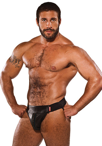COLT Leather Zip Jock - Black