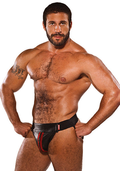 COLT Leather Zip Jock - Red