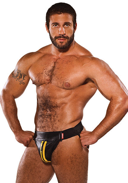 COLT Leather Zip Jock - Yellow