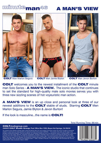 colt dvd a mans view package back