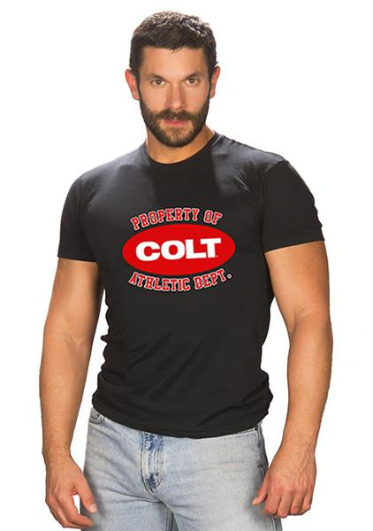 Property of COLT Tee - Red & White Logo