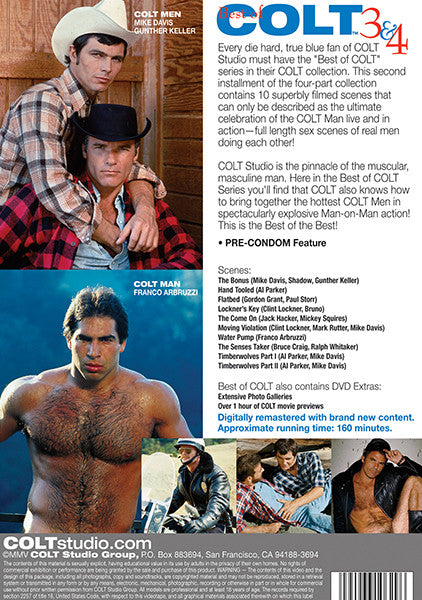The Best of Colt Films 3-4 Cover Back