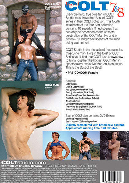 The Best of Colt Films 7-8 Cover Back