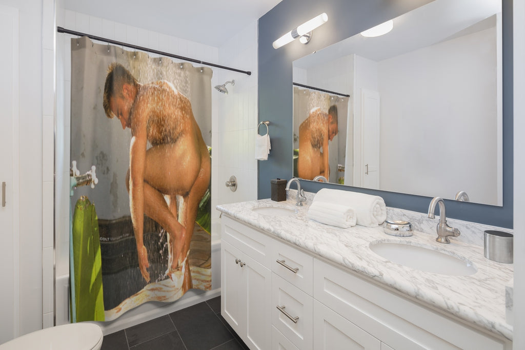 COLT Man Shower Curtain - Lane Fuller