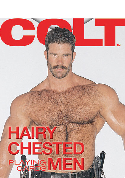 COLT Hairy Chested Men Playing Cards