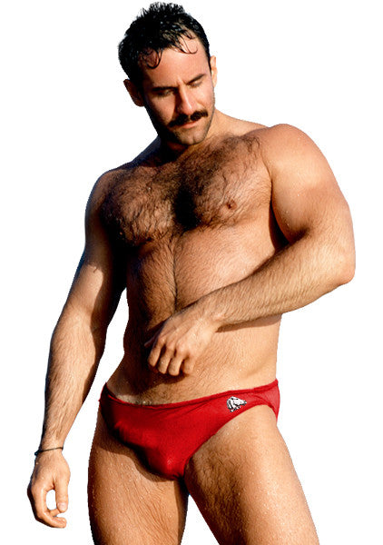 Kelso Swim Brief - Red