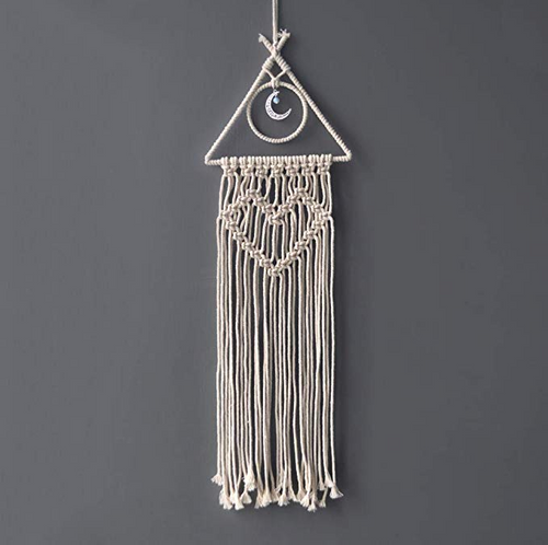 Handcrafted Macrame Wall Hanging with Moon