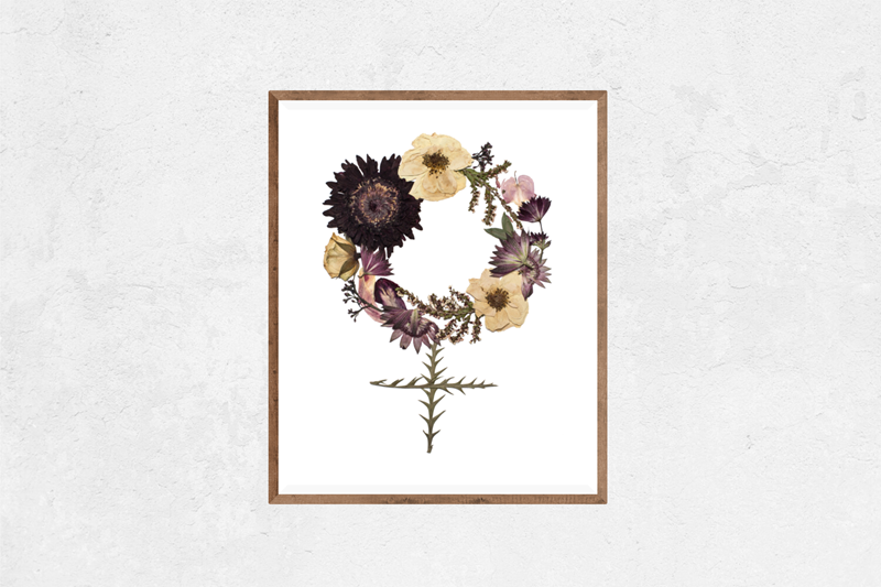 Who Run The World Floral Nature Art Print