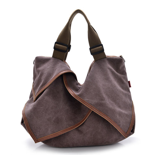 Large Canvas Shoulder Bag
