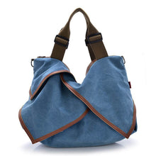 Load image into Gallery viewer, Large Canvas Shoulder Bag