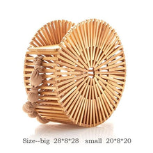 Load image into Gallery viewer, Woven Round Bohemian Straw Bag
