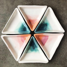 Load image into Gallery viewer, Desert Sun Ombre Triangle Jewelry Dish