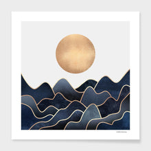 Load image into Gallery viewer, Full Moon over the Ocean Art Print with Frame