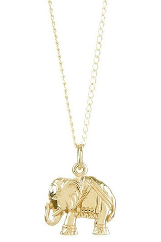 "PETITE BRONZE ""GOOD LUCK"" ELEPHANT NECKLACE"