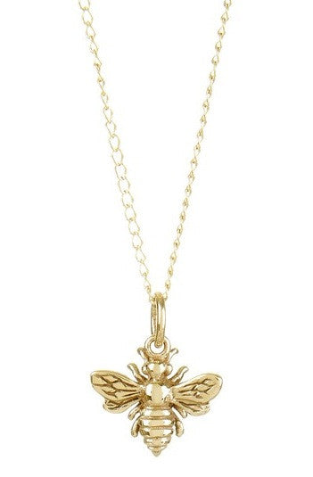 PETITE BRONZE BEE NECKLACE