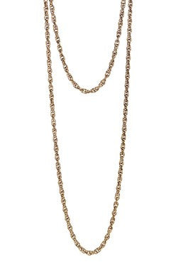 ANTIQUE GOLD VINTAGE CHAIN NECKLACE