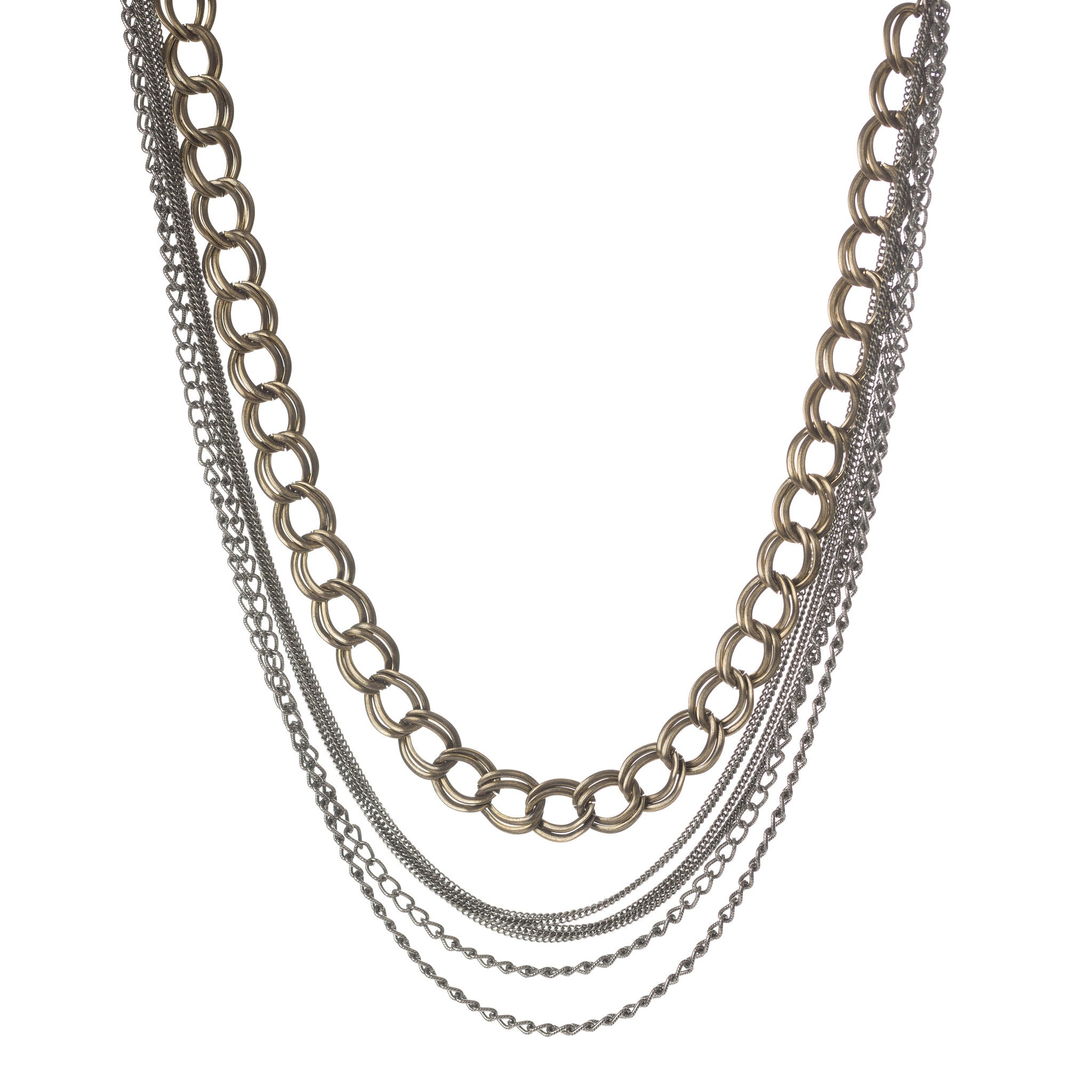 MIXED METAL STATEMENT NECKLACE