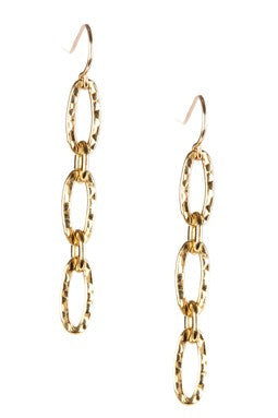 14K GOLD FILLED LINEAR EARRINGS