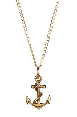 PETITE BRONZE ANCHOR NECKLACE