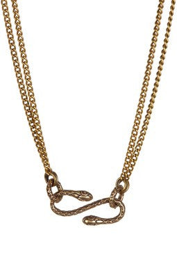 BRONZE SNAKE NECKLACE