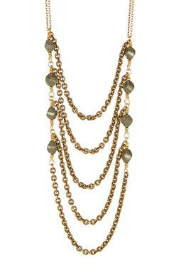 Gold Layered Pyrite Necklace
