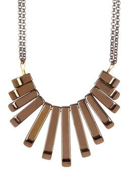 BRONZE PLATE NECKLACE