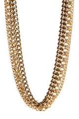 GOLD CHAIN STATEMENT NECKLACE