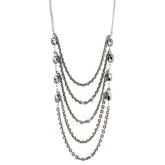 SILVER LAYERED HEMATITE NECKLACE