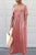 Solid color Pockets Design Maxi Dress