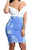 High Waist Denim Sheath Skirts Broken Holes