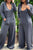 Casual Long sleeve Wide leg Jumpsuit