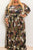 Camo Print Belted Plus Size Maxi Dress