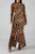 Ribbed Leopard Print Maxi Dress