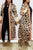 Casual Print Long Coat