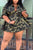Casual Camouflage Printed Plus Size Mini Dress