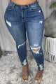 High Waist Hollow Out Skinny Jeans