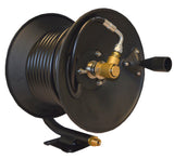 ALL BLACK 8 Pressure Washer HOSE REEL PACK with Rubber wire reinforced hose