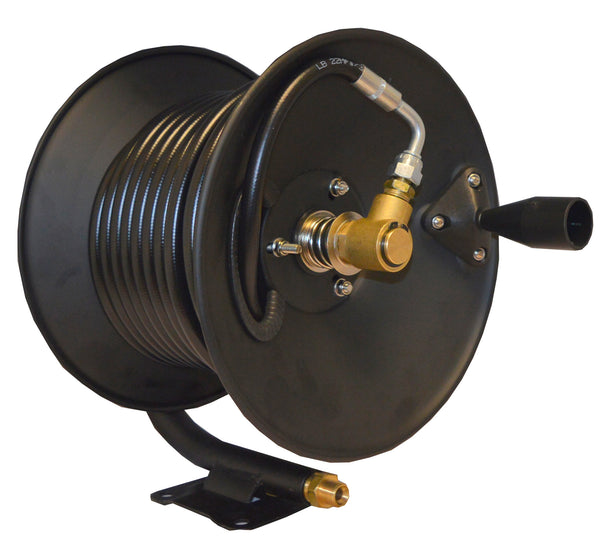 ALL BLACK 9 Pressure Washer HOSE REEL PACK with Rubber wire reinforced hose