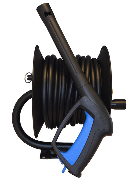 20m Manual Hose Reel complete with hose For Nilfisk Pressure Washers complete with Trigger