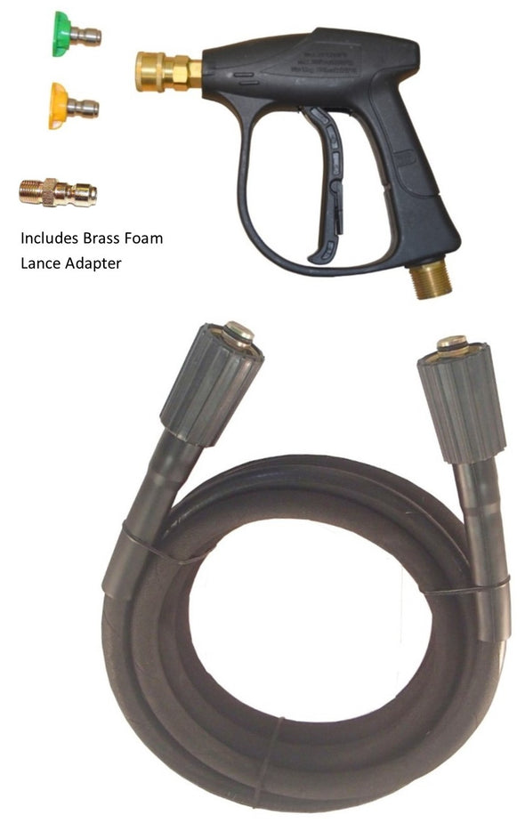 Nilfisk style 'C' series Rubber Replacement Hose and Short Trigger with Quick fit Nozzles