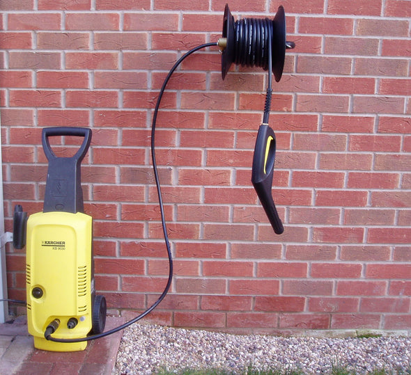 15m Manual Hose Reel complete with hose For Karcher 'K' Series Pressure Washers complete with Short Trigger