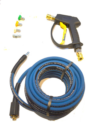 Nilfisk style 'C' series Rubber Replacement Hose with Short Trigger with Quick fit Nozzles