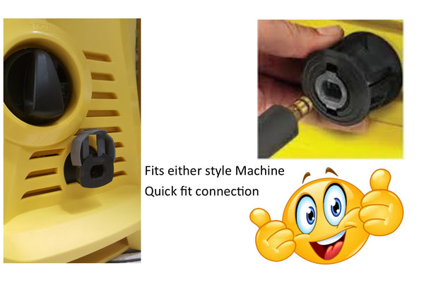Karcher style 'K' series replacement hose and Swivel Trigger Quick Fit machine connection Rubber hose
