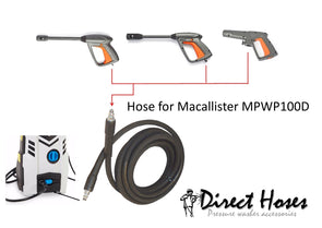 MacAllister MPW100D Pressure Washer Replacement LONGLIFE Rubber Hose BD Qfit2/Qfit2