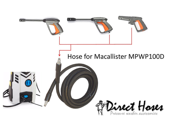 MacAllister MPW100D Pressure Washer Replacement FLEXIWASH Rubber Hose