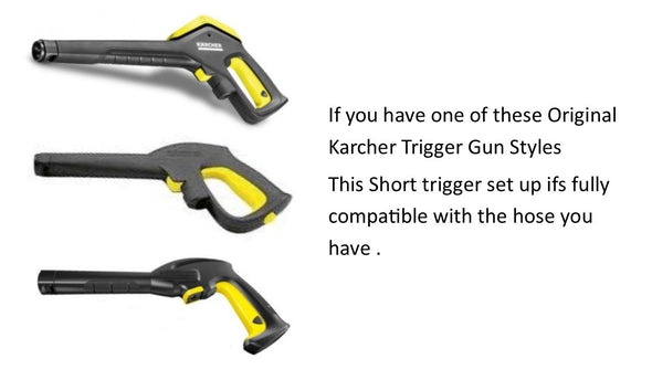 Karcher K series Quick fit Short Trigger with Quick fit Nozzles