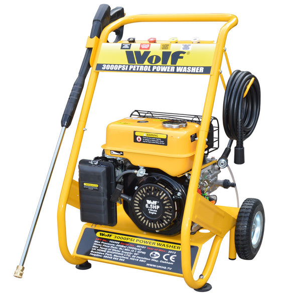 Manual Hose Reel complete with hose For Wolf Petrol Pressure Washers